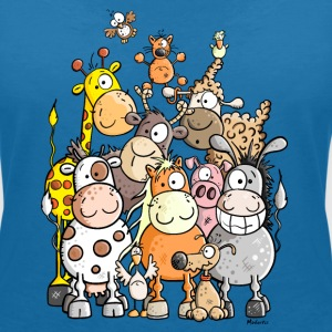 Giant Pile Of Animal T-Shirts - Women's V-Neck T-Shirt