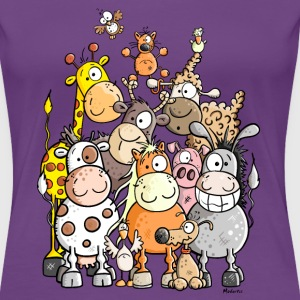 Giant Pile Of Animal T-Shirts - Women's Premium T-Shirt