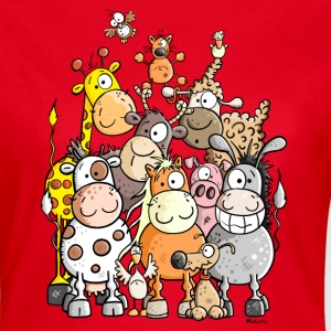 Giant Pile Of Animal T-Shirts - Women's T-Shirt