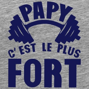 papy plus fort haltere logo Tee shirts - T-shirt Premium Homme