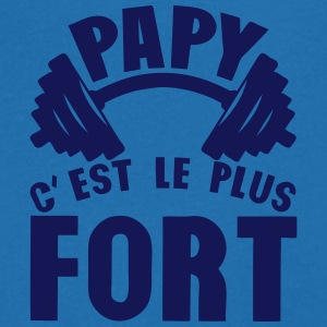 papy plus fort haltere logo Tee shirts - T-shirt Homme col V