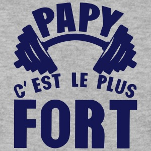 papy plus fort haltere logo Sweat-shirts - Sweat-shirt Homme