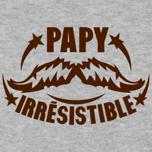 papy irresistible moustache logo Sweat-shirts - Sweat-shirt Homme
