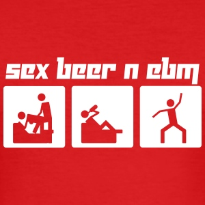 Sex, Beer & EBM (Vector) - Men's Slim Fit T-Shirt