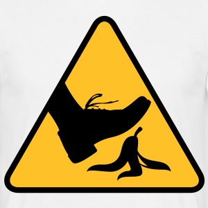 Risk of slipping with a banana T-Shirts - Men's T-Shirt