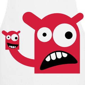 A monster with a Monster Doll  Aprons - Cooking Apron
