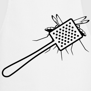 A fly swatter kills a mosquito  Aprons - Cooking Apron