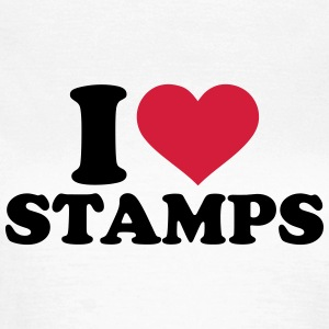 I love Stamps T-Shirts - Frauen T-Shirt