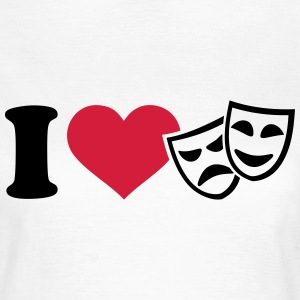 I love Theater T-Shirts - Frauen T-Shirt
