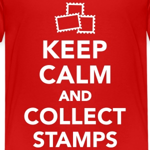 Keep calm and collect stamps T-Shirts - Kinder Premium T-Shirt