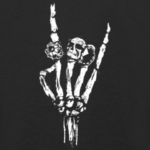 Skeleton hand with rings Long Sleeve Shirts - Kids' Premium Longsleeve Shirt