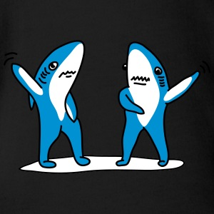 Shark Dance T-Shirts - Baby Bio-Kurzarm-Body