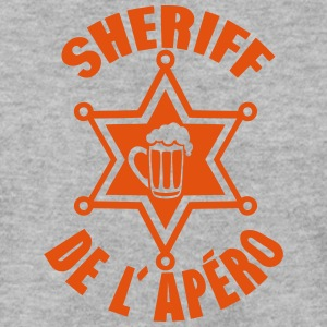 sheriff apero biere etoile alcool humour Sweat-shirts - Sweat-shirt Homme