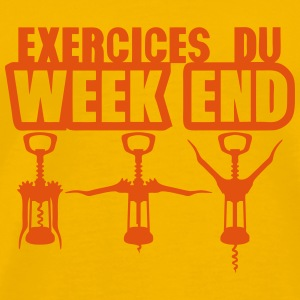exercices week end tire bouchon gym 1912 Tee shirts - T-shirt Premium Homme