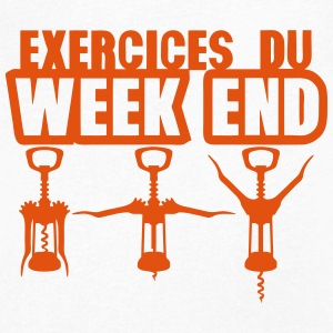 exercices week end tire bouchon gym 1912 Tee shirts - T-shirt Homme col V