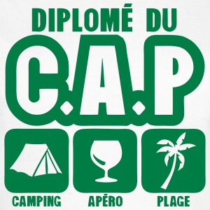 diplome cap camping apero plage humour Tee shirts - T-shirt Femme