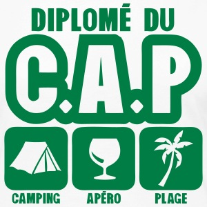 diplome cap camping apero plage humour Manches longues - T-shirt manches longues Premium Femme