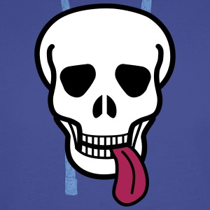 tongue skull Hoodies & Sweatshirts - Men's Premium Hoodie