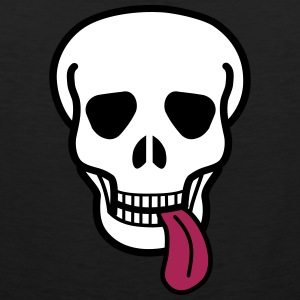 tongue skull Tank Tops - Tank top premium hombre