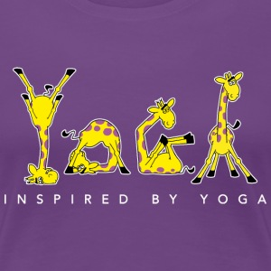 Power Yoga Giraffe - INSPIRED BY YOGA (whiteline) - Frauen Premium T-Shirt