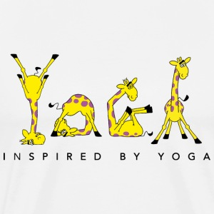 Power Yoga Giraffe - Inspired by Yoga - Männer Premium T-Shirt