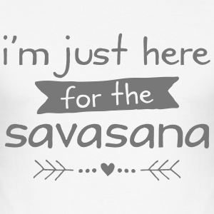 I'm Just Here For The Savasana T-Shirts - Men's Slim Fit T-Shirt