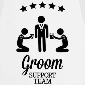 Groom Support Team Delantales - Delantal de cocina