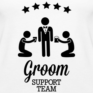 Groom Support Team Tops - Women's Premium Tank Top
