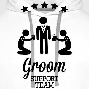 Groom Support Team Hoodies & Sweatshirts - Men's Premium Hoodie