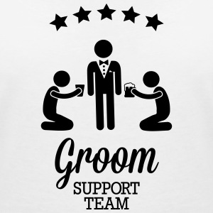 Groom Support Team Tee shirts - T-shirt col V Femme