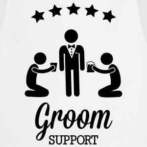 Groom Support Bier Delantales - Delantal de cocina