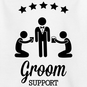 Groom Support Bier Skjorter - T-skjorte for barn