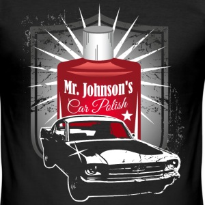 Mr. Johnson´s Car Polish T-Shirts - Männer Slim Fit T-Shirt