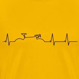 Racing heartbeat T-Shirts - Men's Premium T-Shirt