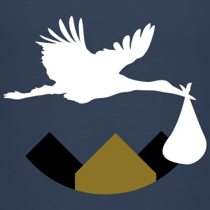 Stork & Baby (Vector) - Teenager Premium T-Shirt