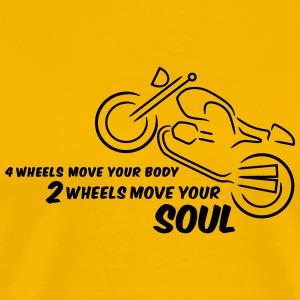 2 wheels move your body - yellow Shirt - Männer Premium T-Shirt