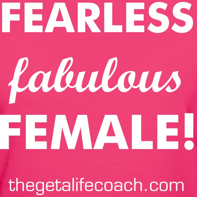 Fearless, fabulous, female tee pink