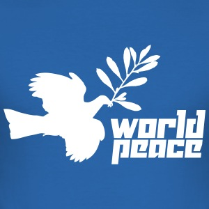 World Peace (Vector) - Männer Slim Fit T-Shirt