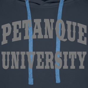 Pétanque University Sweat-shirts - Sweat-shirt à capuche Premium pour hommes