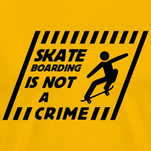 skateboarding is not a crime T-Shirts - Men's Premium T-Shirt