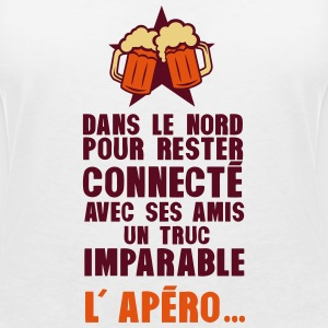 nord connecte amis apero alcool humour Tee shirts - T-shirt col V Femme