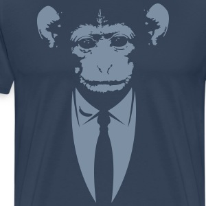 Monkey in a suit with banana T-Shirts - Men's Premium T-Shirt
