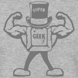 super geek personnage touche muscle 0 Sweat-shirts - Sweat-shirt Homme