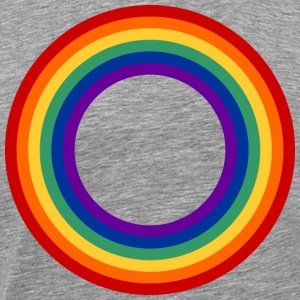 Rainbow Circle T-skjorter - Premium T-skjorte for menn