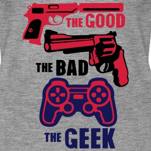 pistolet manette geek good bad gun Tops - Frauen Premium Tank Top