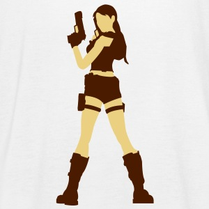 A sexy grave hunter with two guns Tops - Women's Tank Top by Bella