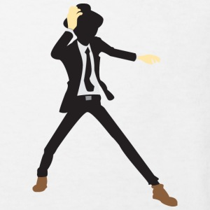 A disco dancer in suit with hat Shirts - Kids' Organic T-shirt