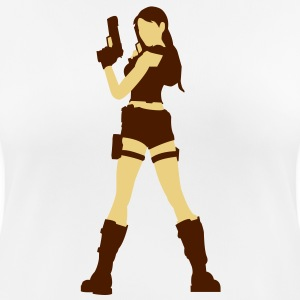 A sexy grave hunter with two guns T-Shirts - Women's Breathable T-Shirt