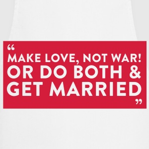 Sayings: couples love and war with each other  Aprons - Cooking Apron