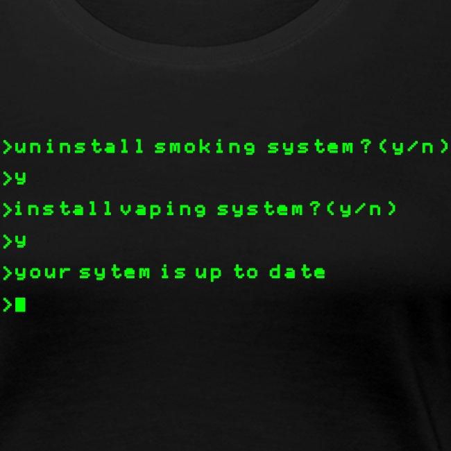 Install vaping system